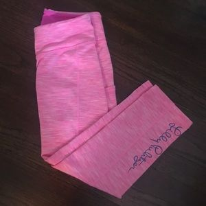 Lilly Pulitzer Pascha Pink Cropped Leggings, XS